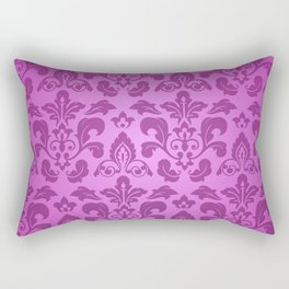Fuchsia Damask Rectangular Pillow