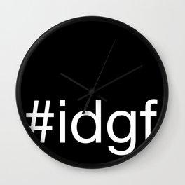 I Don't Give A Fuck Wall Clock
