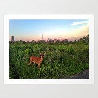 The NYC Deer Art Print