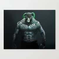 bane Canvas Prints featuring Bane by Midu