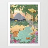 bali Art Prints featuring Bali  by Simoneludeman