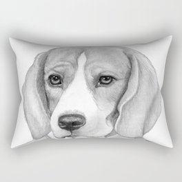 Eagle Beagle Rectangular Pillow