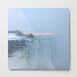 Niagara Falls in Winter Metal Print
