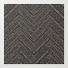 Tipi's (Gray) Canvas Print