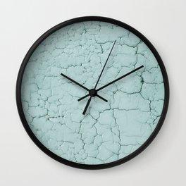 Mediterranean Crackle in Aqua Wall Clock