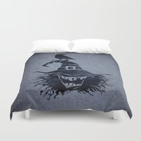 witch Duvet Covers featuring witch by Erdogan Ulker