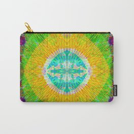 Mandala String Glitch Carry-All Pouch