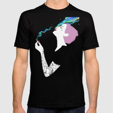 Chromatic Smoke MEDIUM Black Mens Fitted Tee