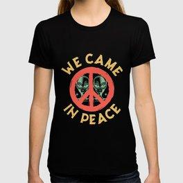 Alien Peace Ufo Peace Sign T-shirt