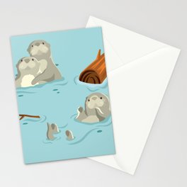 loutres Stationery Cards
