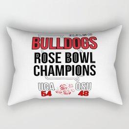 bulldogs champions rose Rectangular Pillow