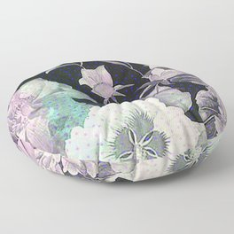 roses and poenies Floor Pillow