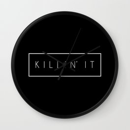 Killin' It Black Wall Clock