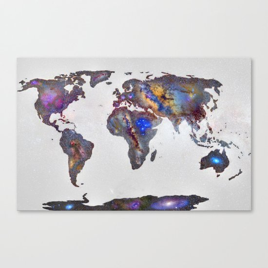 Stars world map Canvas Print