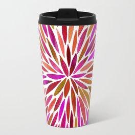Pink Watercolor Burst Travel Mug
