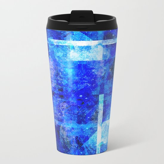 Sapphire Nebulæ Metal Travel Mug
