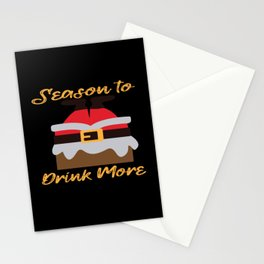 Season to drink more Stationery Cards