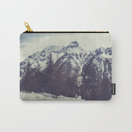 Snow on the Mountains Carry-All Pouch