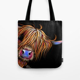 HiGHLaND CoW PRiNT SCoTTiSH ' SuGaR LuMP B ' BY SHiRLeY MacARTHuR Tote Bag