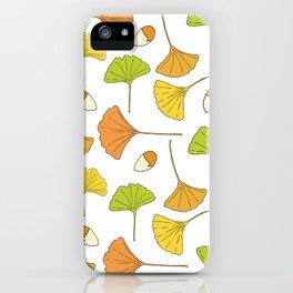 Ginkgo Tree Pattern iPhone Case
