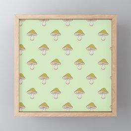 Capped Fellow pattern in green Framed Mini Art Print