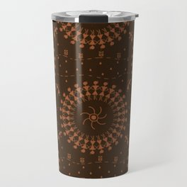 Warli Design Travel Mug