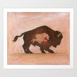 Heart of the Buffalo Art Print