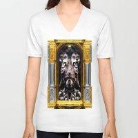 illuminati V-neck T-shirts featuring ILLUMINATI - III by Three of the Possessed