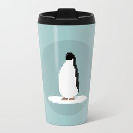 Pixel Penguin on Ice Travel Mug