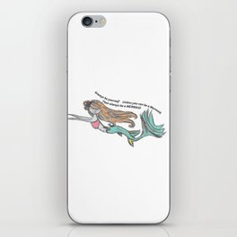 Mermaid Quote iPhone Skin