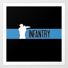 Infantry Blue Art Print
