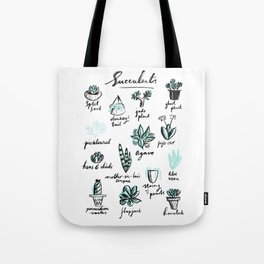 Handy Guide to Common Succulents Tote Bag