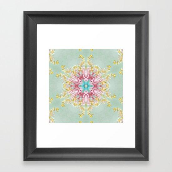 aging beauty (pattern/pillow) Framed Art Print