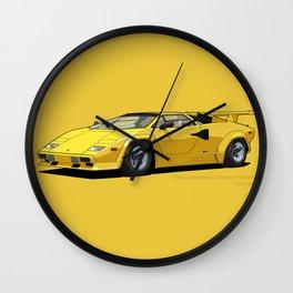 Lamborghini Countach 5000QV Oro Sahara (US spec) Wall Clock