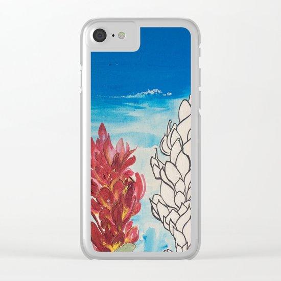 Alpinia purpurata – Red Ginger Flower Clear iPhone Case