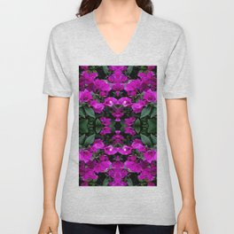 AWESOME AMETHYST PURPLE BOUGAINVILLEA VINES Unisex V-Neck