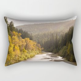 Humboldt County Fall Colors, Autumn Decor, Redwoods, Avenue of the Giants California Photography  Rectangular Pillow