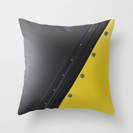 Colored plate with rivets Throw Pillow