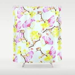 Spring flowers (floral) Shower Curtain