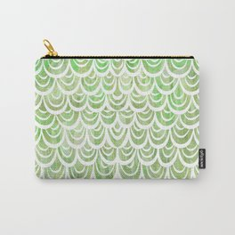 Watercolor Mermaid Peridot Carry-All Pouch