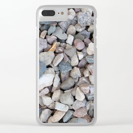gravel texture Clear iPhone Case