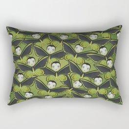 Green Birdwing Butterfly Rectangular Pillow