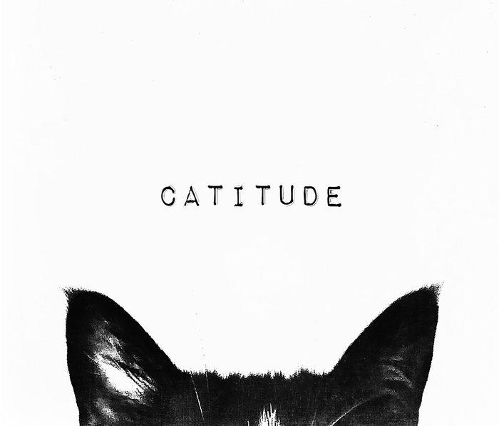 cat - catitude Metal Travel Mug