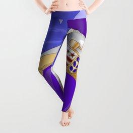 Silk Flag and Purple Heart Leggings