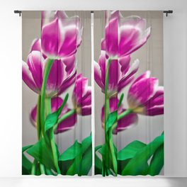 Pink Tulips Blackout Curtain