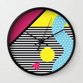 Neo Memphis Walk Wall Clock