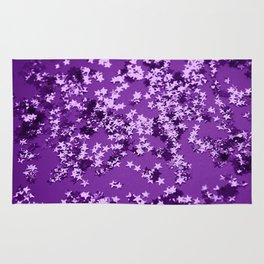 Purple Glitter Stars #1 #shiny #decor #art #society6 Rug
