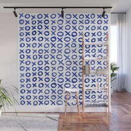 Xoxo valentine's day - blue Wall Mural