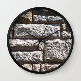 Stone Cladding Wall Clock