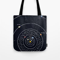 solar system Tote Bags featuring Solar system by James White